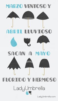 Proverb: Spanish: Marzo ventoso y abril lluvioso hacen de mayo florido y hermoso. Translation: Windy March and rainy April make May blossoming and beautiful. Interpretations: sometimes, unpleasant things must be borne in order of good things to arrive. Equivalent English proverb: April showers bring May flowers #quoteoftheday #illustration