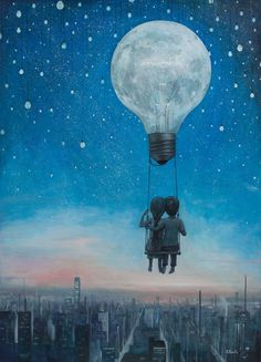Our love will light the night, Adrian Borda, Oil, YearArtwork (i.imgur.com)
