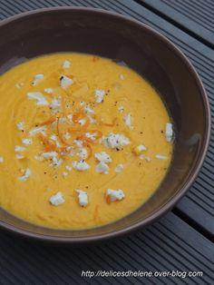 Velouté de carottes à l'orange et à la feta