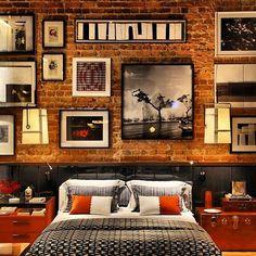#interiordesign / stylish loft / wall / frames