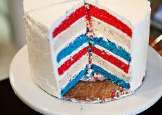 Flag Cake http://bakedbree.com/flag-cake