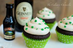 What better way to celebrate the Irish in you than with chocolate stout cupcakes with Irish Cream buttercream icing @food