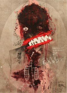 Creepy Art, Weird Art, Arte Horror, Horror Art, Outsider Art, Art Macabre, Art Inspo, Art Bizarre, Art Sinistre