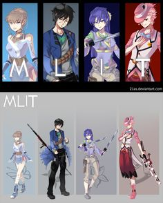 RWBY OC Commission: Team MLIT by 21as on DeviantArt