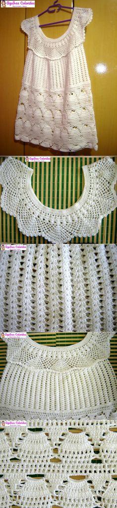 Pap resumido Considere A Crochet Shirt, Crochet Collar, Knit Or Crochet, Crochet Scarves, Crochet For Kids, Irish Crochet, Crochet Clothes, Crochet Baby, Crochet Borders