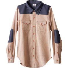 Kavu Hadley Shirt ($36) ❤ liked on Polyvore featuring tops, kavu shirt, pink button down shirt, button up shirts, button up top and shirt top