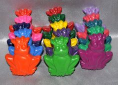 Recycled Crayons Prince Frog Shaped Total of 15. Boy or Girl Kids Unique Party Favors, Crayons