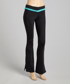 Look what I found on #zulily! Black & Ocean Blue Simplicity Pants by Bluefish Sport #zulilyfinds