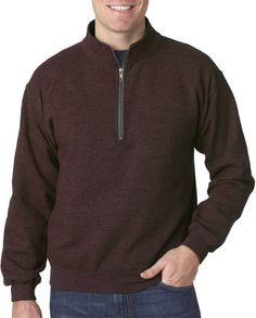 gildan(R) heavy blend? adult vintage cadet collar sweatshirt - russet (xl)