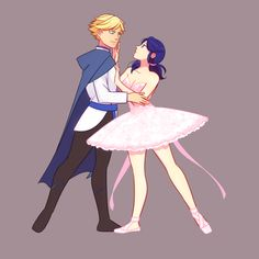 (BalletAU!Miraculous: Tales of Ladybug and Cat Noir) Adrien Agreste/Marinette Dupain-Cheng