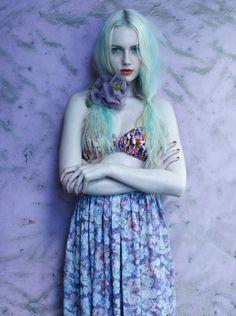 Fleur Bleue by Cloe Legault, via Behance#Repin By:Pinterest++ for iPad#