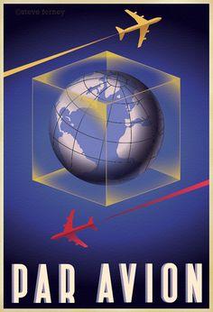Par Avion / Air Mail Poster on Behance