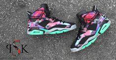 """Air Jordan 6 """"Aztec"""" Custom"""