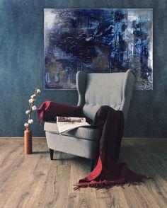 Deep Blue Magic 1 Fine Art Canvas Print by British Artist Jessica Zoob