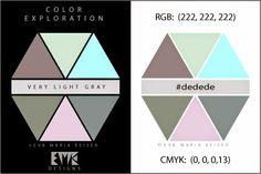 """Eva Maria Keiser Designs: Explore Color:  """"Very Light Gray"""""""