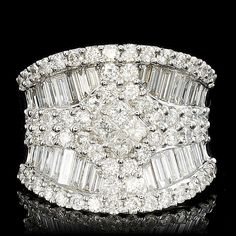 18K WHITE GOLD 3.45CT DIAMOND RING #DiamondCocktailRing #VonGiesbrechtJewels