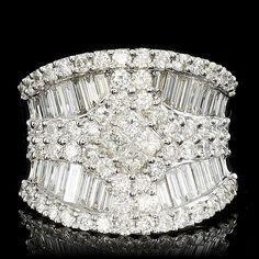 18K WHITE GOLD 3.45CT DIAMOND RING #DiamondCocktailRing #VonGiesbrechtJewels