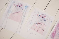 beata: watercolor on photographs