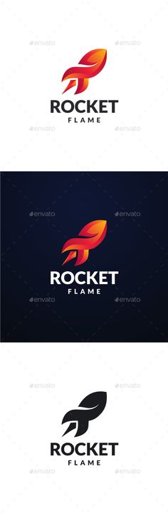 Rocket Flame Logo — Photoshop PSD #launch #creativity • Available here → https://graphicriver.net/item/rocket-flame-logo/13651016?ref=pxcr