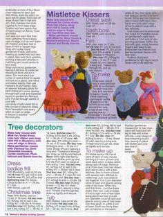 images attach c 4 79 623 Teddy Bear Knitting Pattern, Animal Knitting Patterns, Crochet Dolls Free Patterns, Christmas Knitting Patterns, Knitting Wool, Stuffed Animal Patterns, Amigurumi Patterns, Knitting Stitches, Crochet Toys