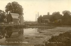 Old real-photographic postcard of The Little Mill, Redbourn, Hertfordshire. | eBay