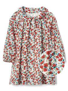 gap baby red poppy dress