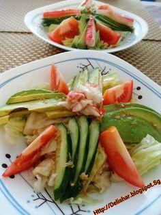Kani Avocado Salad with Wafu Dressing
