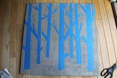 Easy DIY Wooden Tree Painting