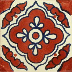 Traditional Mexican Tile - Toledo Terra Cota/Azul