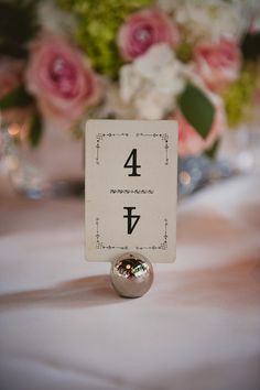 vintage cards used as table numbers