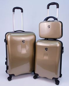 Three-Piece Spinner Set with Packing Cubes by Heys at Horchow.