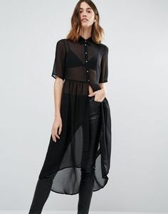 Buy Vero Moda Tunic Shirt Dress at ASOS. Get the latest trends with ASOS now. Casual Outfits, Fashion Outfits, Womens Fashion, Fashion Trends, Women's Casual, Tunic Shirt, Shirt Dress, Parisienne Chic, Shorty