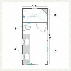 Bathroom Design Small Plans Ilration Of Floor Plan After Bath Remodel Pocket Door Long E Rectangle Varnished Cupboard