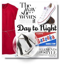 """Shirt Dress - DayToNight:)"" by myfashionwardrobestyle ❤ liked on Polyvore featuring MANGO, Converse, Anya Hindmarch, Yves Saint Laurent, Vera Wang, women's clothing, women, female, woman and misses"