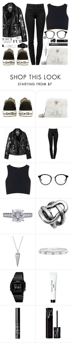 """I was there too"" by carolsposito ❤ liked on Polyvore featuring Converse, Prada, Proenza Schouler, Yves Saint Laurent, Cartier, Rebecca Minkoff, Casio, Bobbi Brown Cosmetics and NARS Cosmetics"