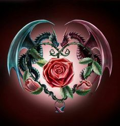 Dragon, Rose & Heart