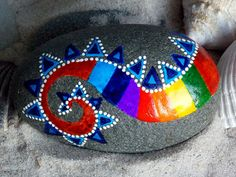 Lived By the Sea / Painted Rock/ Sandi Pike Foundas / Cape Cod. $45.00, LoveFromCapeCod on Etsy.