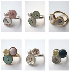 Button Ring: This is adorable. I might need to make a couple!