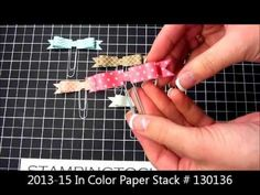 Paper Bows on Paper Clips with a Video Tutorial