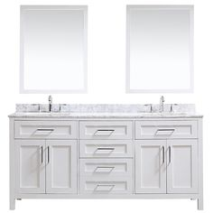 Buy the Ove Decors Tahoe White / Carrera Marble Top Direct. Shop for the Ove Decors Tahoe White / Carrera Marble Top Tahoe Free Standing Double Basin Vanity Set with Wood Cabinet, Marble Vanity Top, and Framed Mirrors and save. Removable Backsplash, Vanity Set With Mirror, Single Basin Sink, Wood Cabinets, Double Vanity Bathroom, Marble Vanity Tops, Vanity, Vanity Sink, Bathrooms Remodel