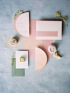 modern geometric wedding suite - pinks and blues - The Doyle - A Modern and Industrial Las Vegas Wedding Venue - Kristen Krehbiel - Kristen Kay Photography - The Mrs Box - wedding rings re-posted by Vegas Wedding Venue, Las Vegas Weddings, Wedding Venues, Wedding Day, Wedding Suite, Wedding Rings, Rustic Wedding, Wedding Programs, Handmade Wedding