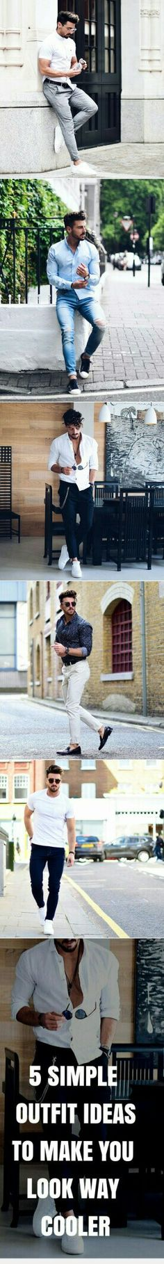 5 Outfit Ideas To Make You Look Way Cooler. #mens #fashion #style