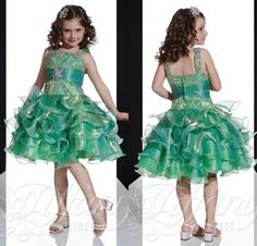 White Girls Dress Hot Selling A Line Knee Length Green Tiered Organza Cupcake Pageant Dresses For Little Girls Beaded Sequins Cheap Flower Girls Dresses Little Girl Pagent Dresses From Glamorousqueen, $50.1| Dhgate.Com