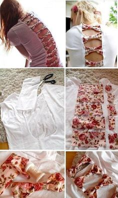 DIY shirt I HAVE to try this....if only i was crafty i'd love to do this!