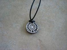 Gun Shell EO Diffuser Ceramic Pendant, Essential Oil Pendant, Mens Pendant…