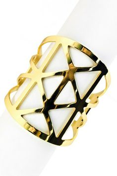 Tokyo Cuff by So Anyway in Gold plated steel