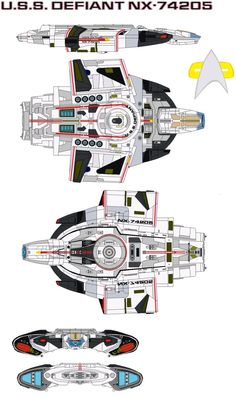 Class  Defiant Registry  NX-74205 (as the First Defiant) NCC-75633 (as the Second Defiant) Maximum speed  Warp factor 9.2 (Upgraded 2371) Armam...