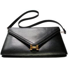 Hermès Lydies Clutch black box leather gold plated Hdw bac4aa4941838