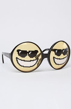 The Happy Face Sunglasses by Jeremy Scott for Linda Farrow Sunglasses #MissKL and #SpringtimeinParis
