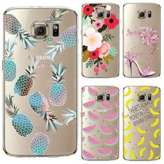 Soft TPU Cover For Samsung Galaxy S6 S7 A3 J1 2016 Cases Phone Shell Newest Arrival Patterns Summer Sweet Fruit Green Pineapple